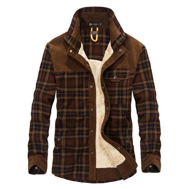 Lavnis Mens Regular-Fit Plaid Shirts Long Sleeve Button Down Shirt