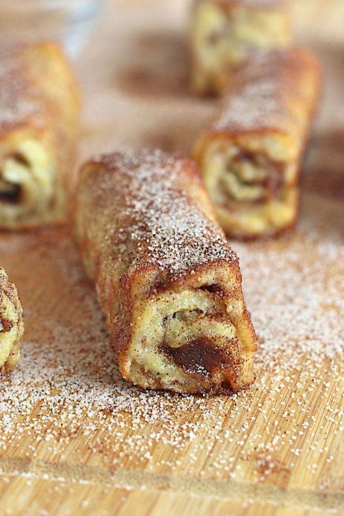 French Toast Roll Ups | The BakerMama #frenchtoastrollups