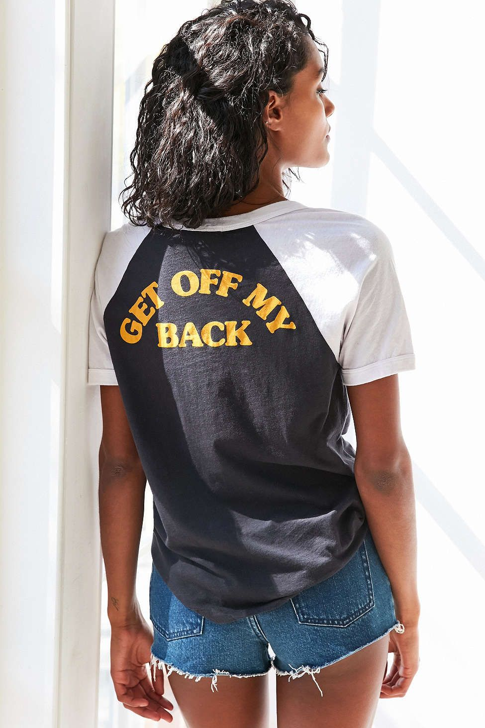 Truly Madly Deeply Get Off My Back Ringer Tee - Urban Outfitters