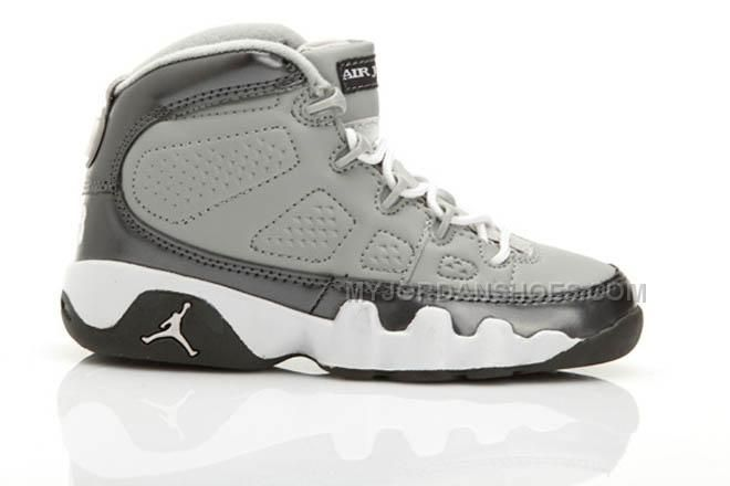wholesale dealer f0b01 d0312 Kids Jordan 9 Retro(ps) Medium Grey and White Cool Grey 98508