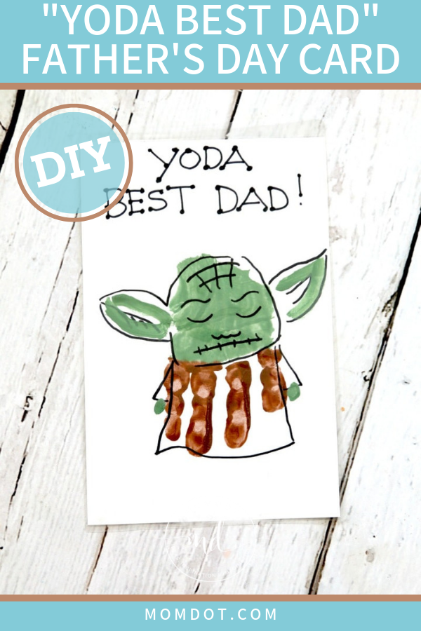 Yoda Best Dad Father's Day Card