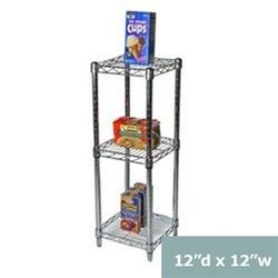Industrial Wire Shelving Unit With 3 Shelves 12 D Wire Shelving Wire Shelving Units Shelving Racks