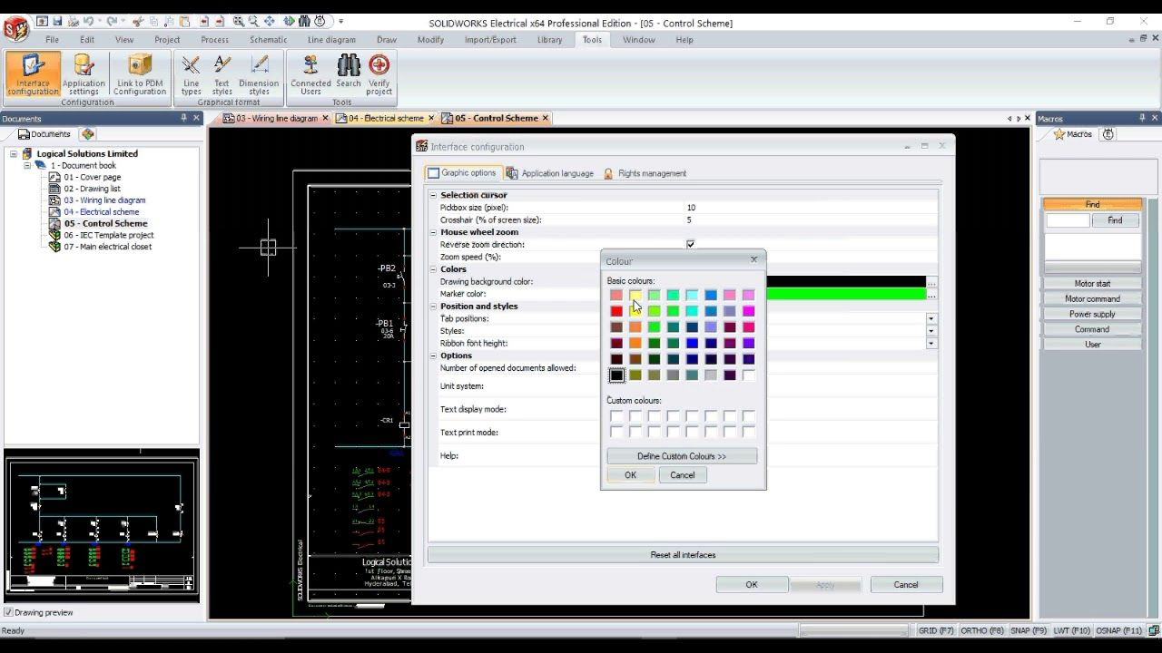 Changing Background Color Of Your Drawing In Solidworks Electrical