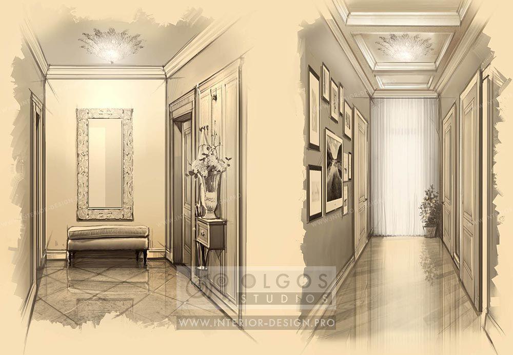 hall corridor interior draw httpinteriordesignproenhallway
