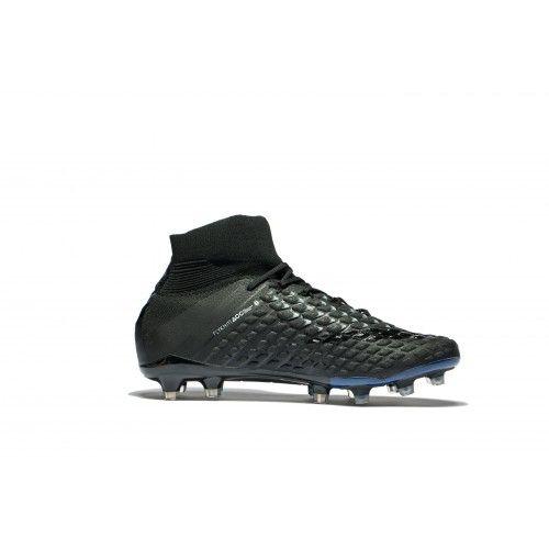 sports shoes 9538f d6a4c Best 2017 Nike Hypervenom Phantom III DF FG Black Online Football Shoes