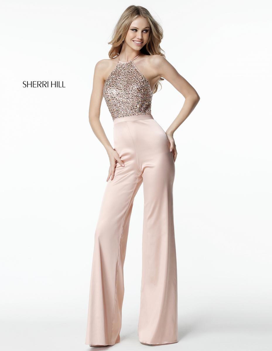 Sherri hill beaded fitted jumpsuit стиль pinterest