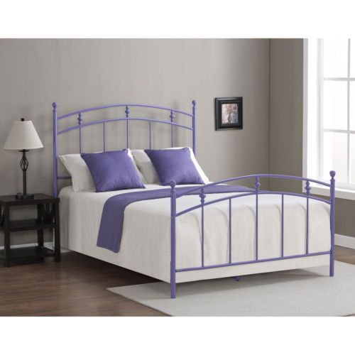 Full Size Lavender Bed Frame Purple Girls Women Teens Sleep