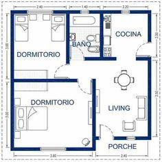 Steel framing oferta 36m2 una vivienda de alta for Ver planos de casas pequenas