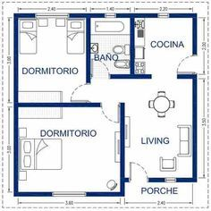 Steel framing oferta 36m2 una vivienda de alta for Hacer plano vivienda