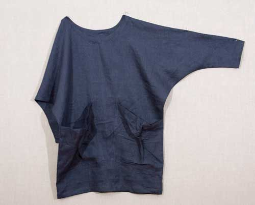 Linen batwing top. Instructions available. Good winter layer with sweatshirt or heavy jersey fabric.