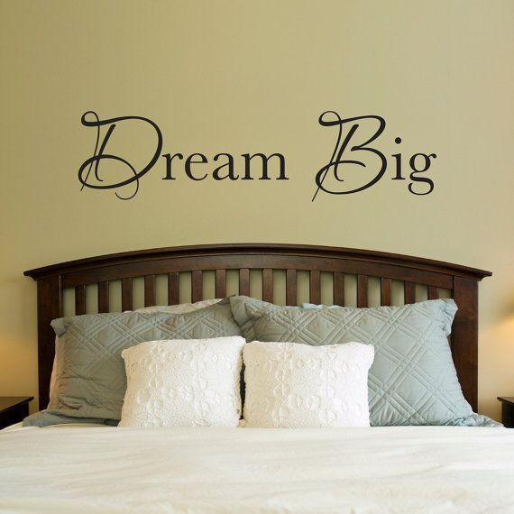 Dream Big Decal - Dream Big Quote Wall Art - Wall Sticker ...