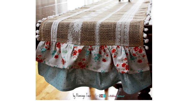 cute, but definitely replace the burlap with linen