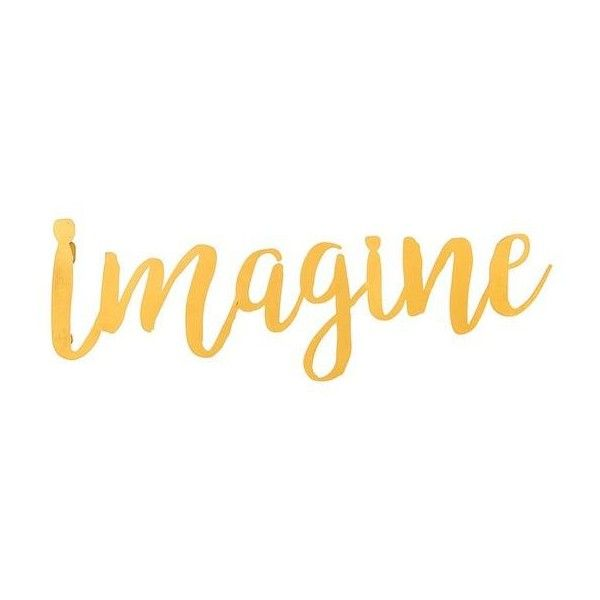 Imagine\' 3-D Cursive Metal Wall Décor ❤ liked on Polyvore featuring ...