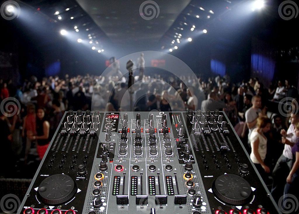 DJ sound mixer is pictured in a rave party   | My future job