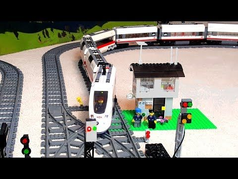 Long Train Arriving And Leaving Lego City Railway Station Youtube