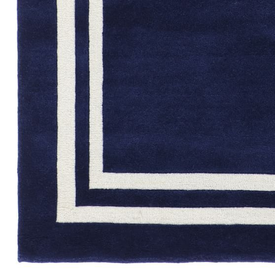 Decorator Border Rug Navy And White Rug Navy Rug Rugs