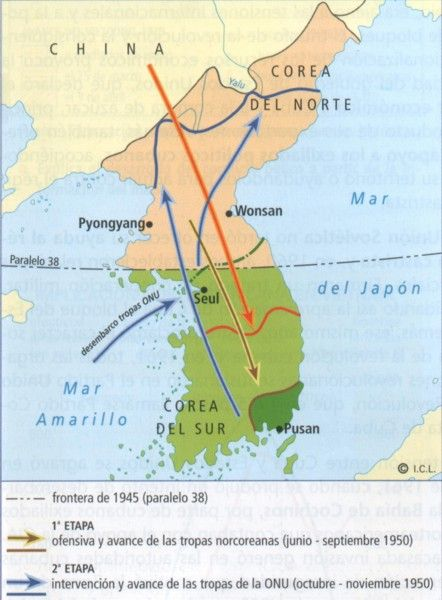 Guerra De Corea Mapa.Mapa De La Peninsula De Corea Corea Historia De La