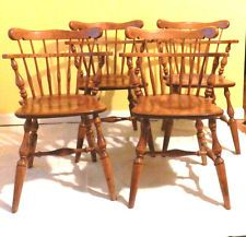 Tered Throughout The Main House Ethan Allen Heirloom Maple Comb Back Captain S Chair Early American Furniture