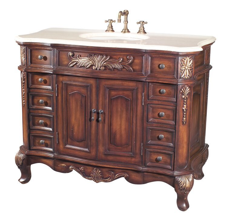 Artline Antique Vanities  Antique Bathroom Vanity B2815Tkgc3 New Antique Bathroom Vanities Design Ideas
