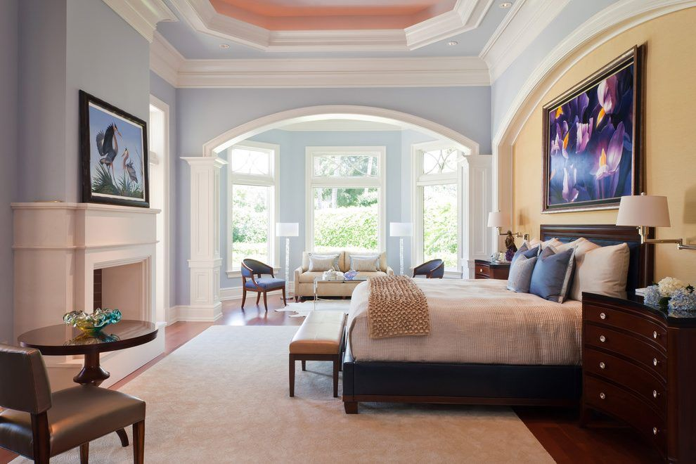 Bedroom sitting areas, Mirrored side tables and Master bedrooms on ...