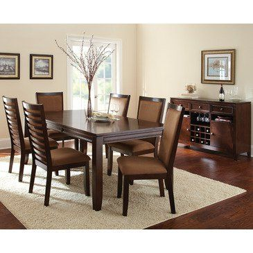 Steve Silver Cornell 8 Piece Rectangular Dining Room Set In Rich Fair Steve Silver Dining Room Set Design Inspiration