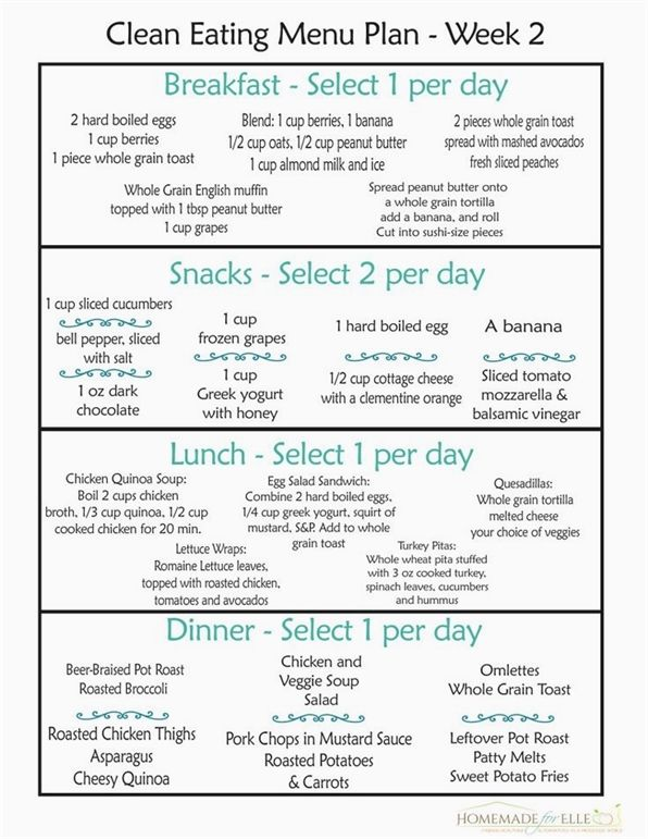Clean Eating Meal Plan 100 Free  Includes Breakfast Lunch Dinner  Snacks A free clean eating meal plan that includes breakfast lunch dinner and snacks Comes in a download...