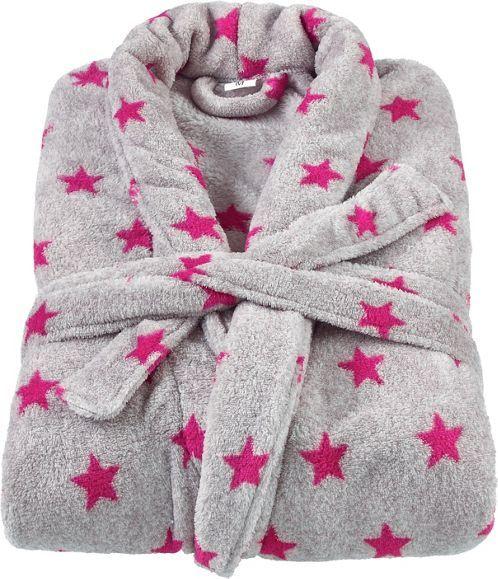 Bademantel in Grau und Pink - kuschelig in den Tag starten