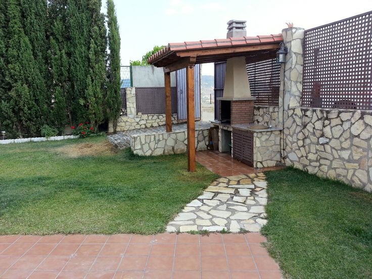 Terraza con barbacoa 7 casas mexicanas home decor for Jardin al aire libre de madera deco