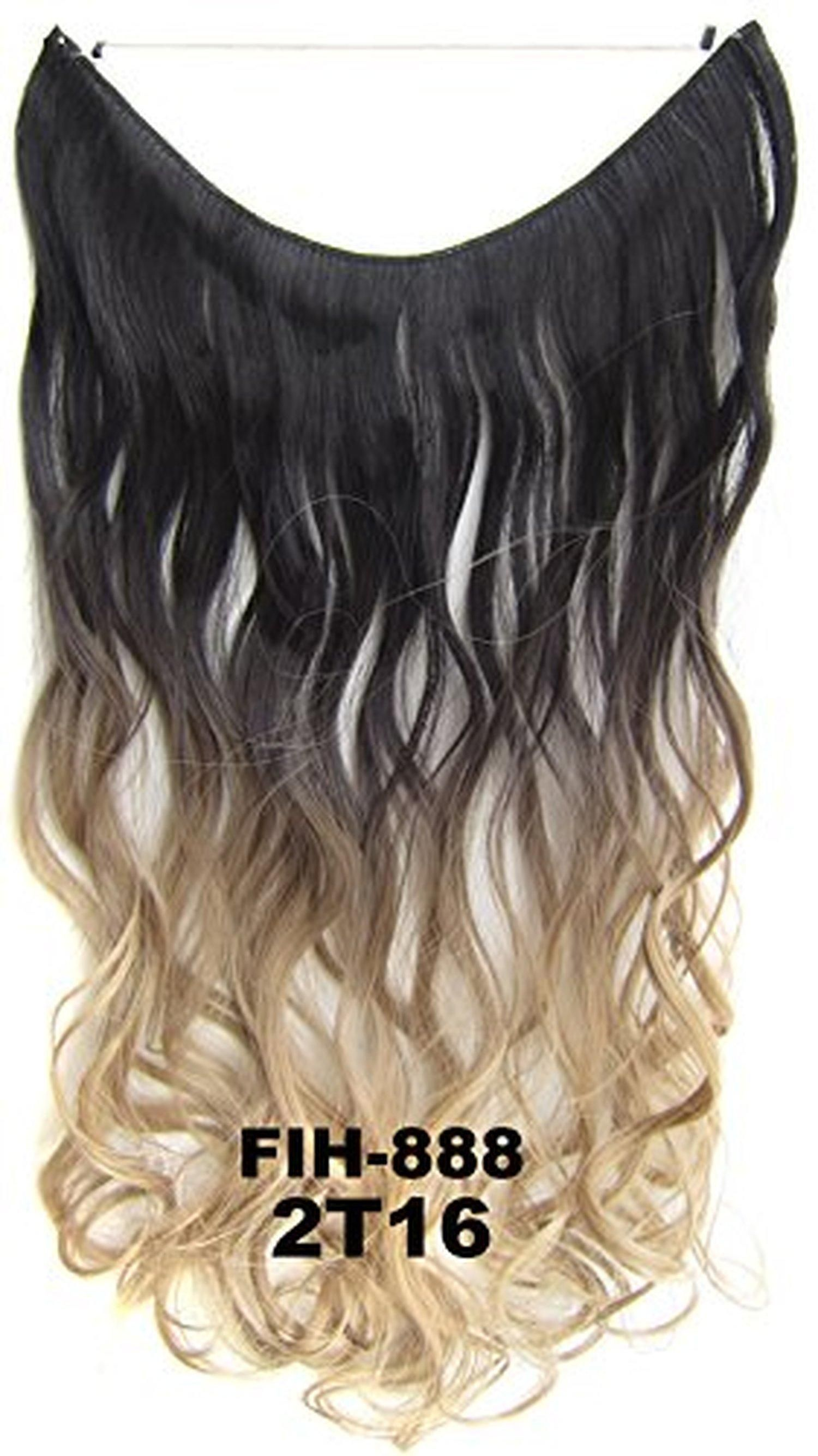 Flip In Wavy Curly Ombre Dip Dye Synthetic Hair Extension Secret
