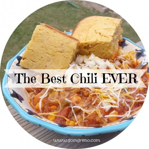 My dad's chili is like my childhood in a bowl. So yum.