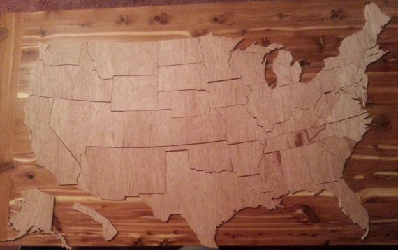 X Plus Ship Large State Wooden United - Large wood us map puzzle