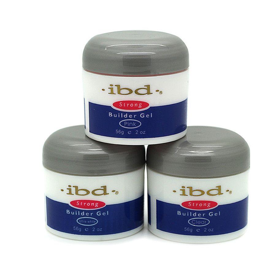 Nail Art Dan Extension Kuku: 1 Pcs Kuku IBD Builder Gel UV Nail Art Pink Clear White