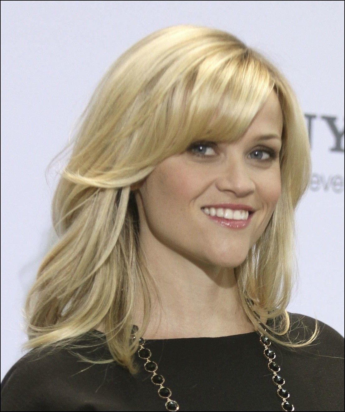 Medium length haircut with layers and side bangs hairstyles ideas