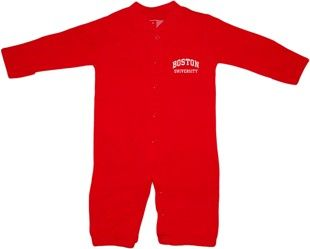 """Boston University Terriers """"Convertible"""" (2 in 1), as gown & snaps into romper"""