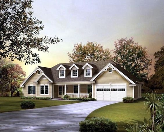 Ranch Style House Plan 95850 With 3 Bed 2 Bath 2 Car Garage Ranch Style House Plans Country Style House Plans Ranch House Plans