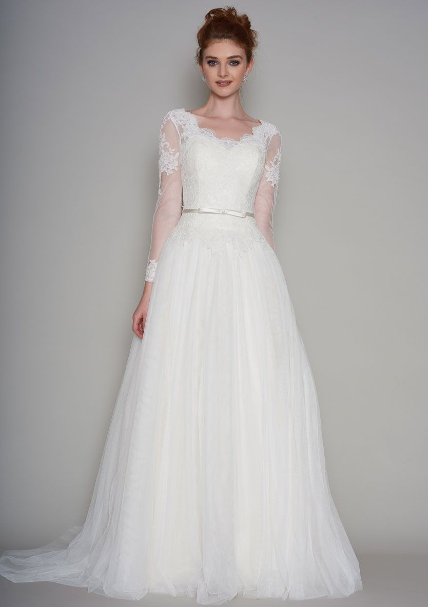 Beatrix ivorylace and tulle wedding dresses floaty