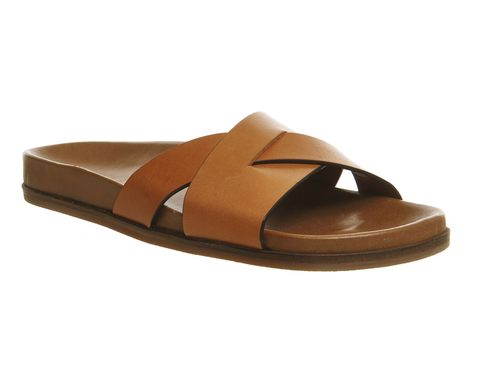 Buy Tan Leather Office Basil Clean Footbed Sandals from OFFICE.co.uk.