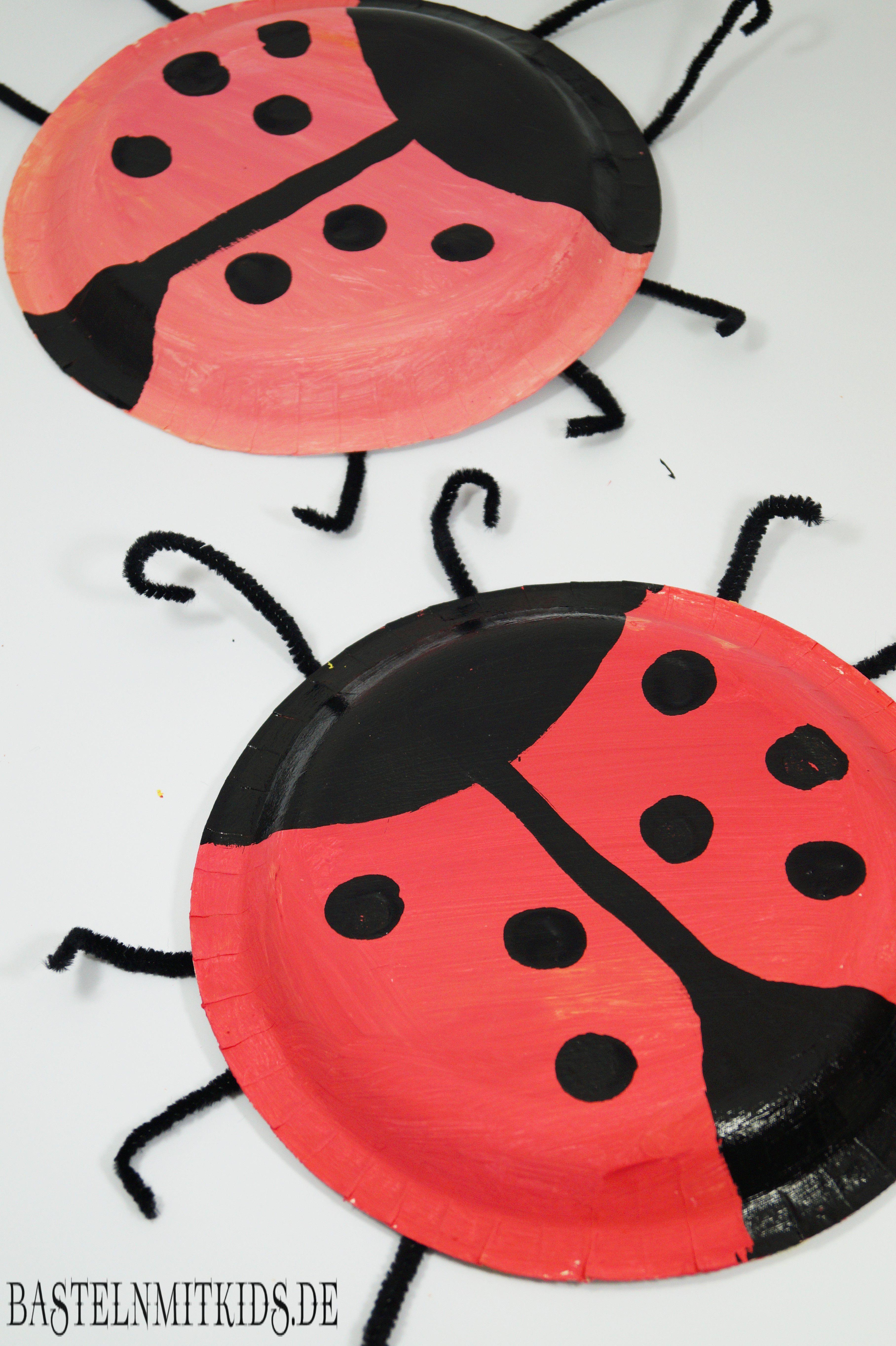 Marienkäfer malen und basteln - Bastelnmitkids