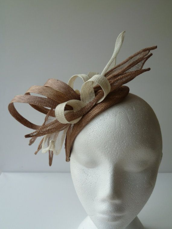 Coffee and Cream swirls and fingers fascinator for by susansteiner ... ac168b4fc8c