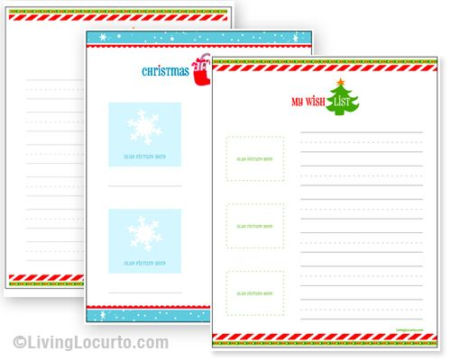 Free Printable Christmas Wish Lists Fun activity for kids to send - Kids Christmas List Template
