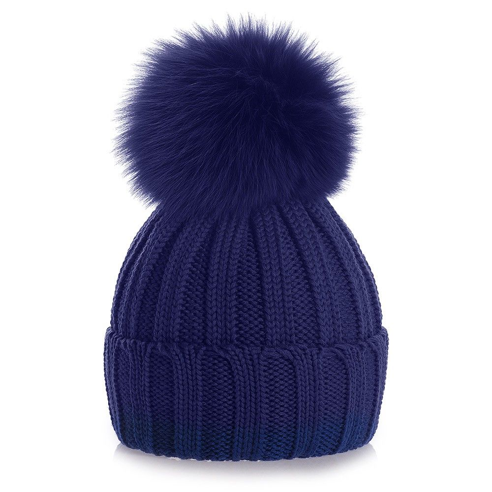 fa13521df0d Knitted Hats with Fur Pom Pom – Top Notch USA