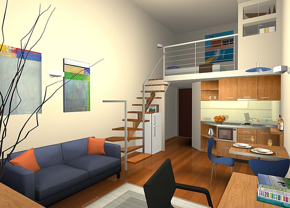 Studio Apartment With Kids you can also maximize the room spaceinserting geometry
