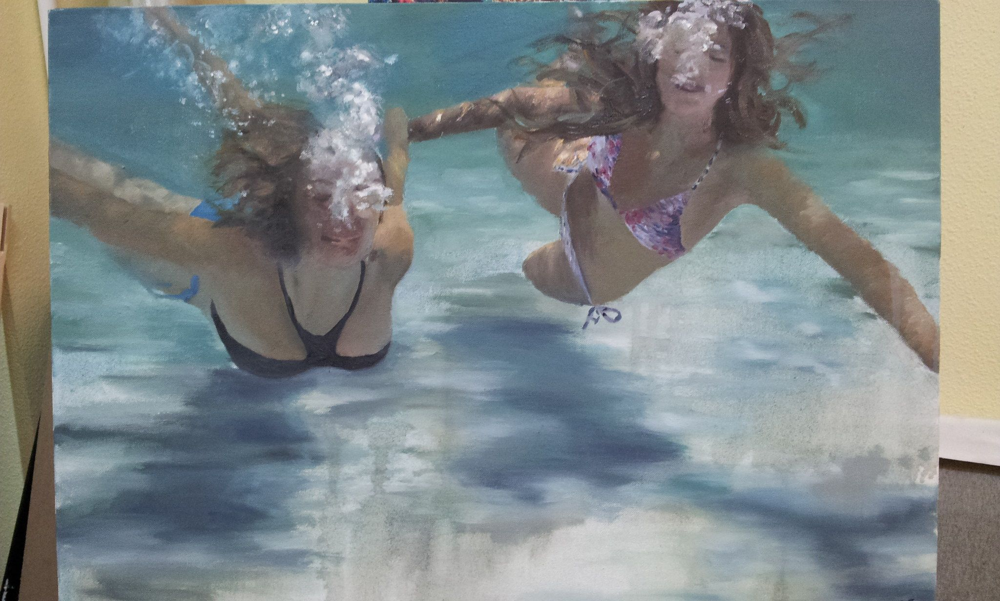 Sirenas 2. Las sirenas de frente y flotando. También en Cerdeña