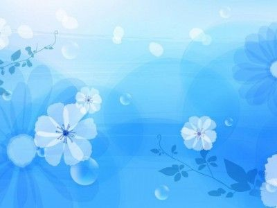 simple blue flower patterns power point backgrounds