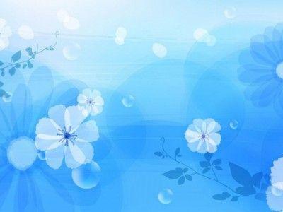Simple Blue Flower Patterns Background Wallpaper