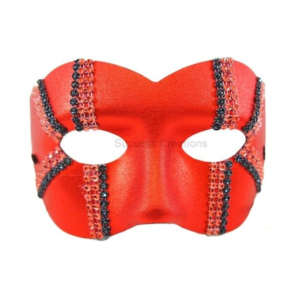 Daredevil Red Masquerade Mask for Men ($3.50) ❤ liked on Polyvore featuring mens