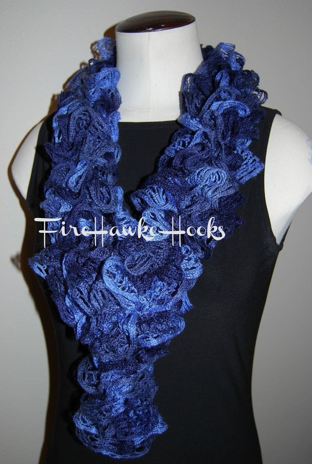 free pattern for crochet ruffle scarf | Firehawke Hooks and Needles ...