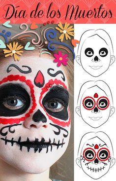 Karnevals-Schmink-Gesicht Totenkopf – Haushaltsmuffel