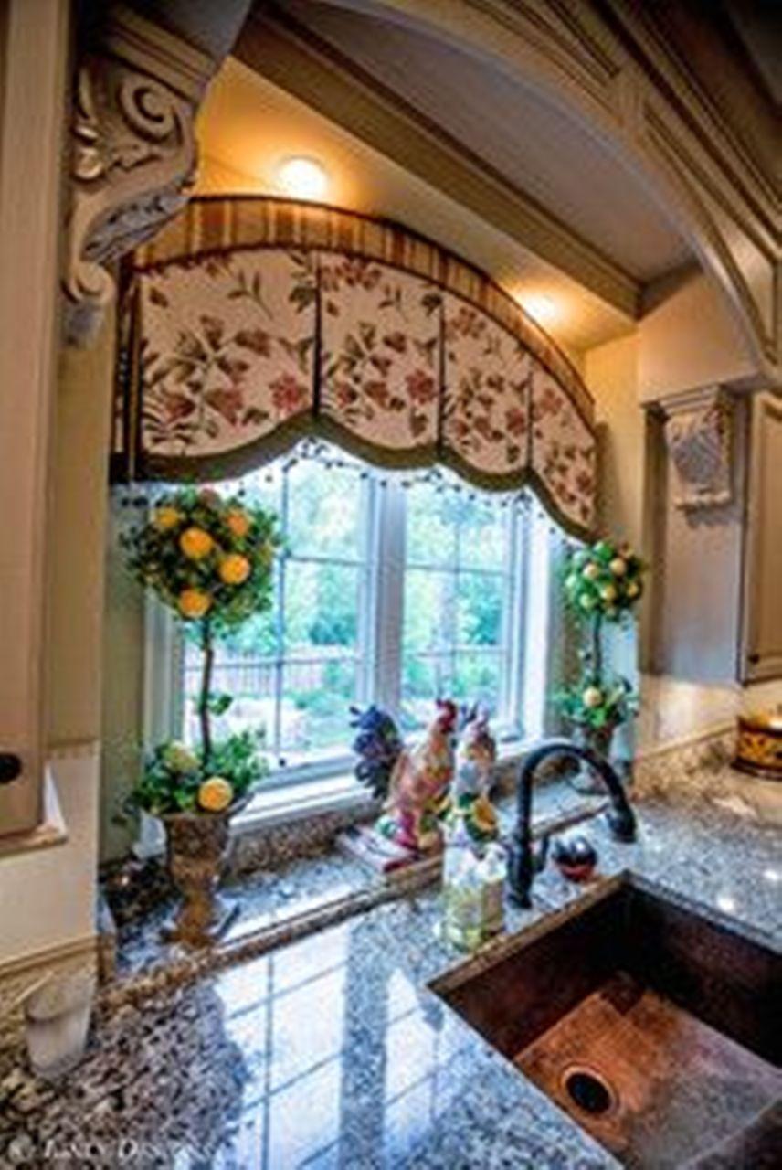 Nice window treatment in this kitchen interiors 4 - Curtain designs for kitchen windows ...