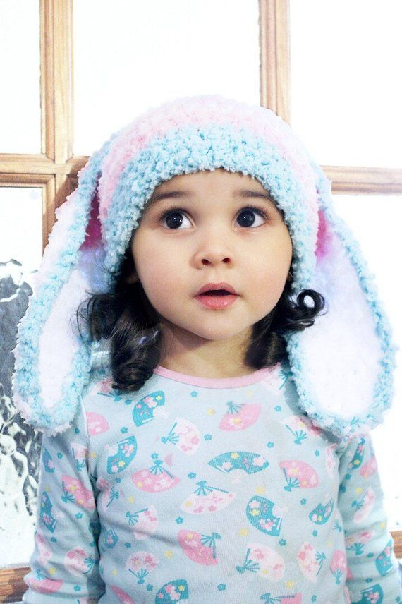 2T to 4T Kids Stripe Bunny Hat a3bc78fb90d5
